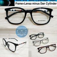 kacamata frame burberry kotak gratis lensa minus supershine