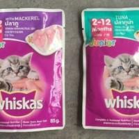 Whiskas Junior Tuna / Mackarel 85 gr. Makanan basah kucing
