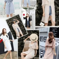 BEST SELLER OUTER PREMIUM DRESS PREMIUM IMPORT BANGKOK - Hijau