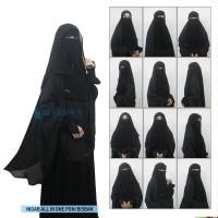 Bundling Niqab All In One Poni Bisban Sifon Jetblack 12 Style Alsyahra