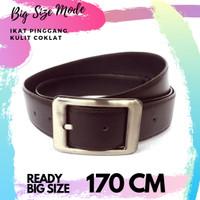 ikat pinggang kulit pria big size 170 cm sabuk kulit jumbo 170cm belt