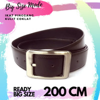ikat pinggang kulit pria big size 200 cm sabuk kulit jumbo 200cm belt