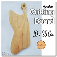 Wooden Cutting Board 10x25 Cm Talenan kayu unik Rustic chopping board