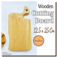 Wooden Cutting Board 12,5x25Cm Talenan kayu unik Rustic chopping board