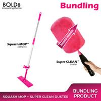 Bundle Set Squash Mop + Super Clean Duster