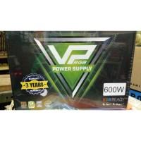 GAMEMAX PSU VP600 RGB - 600 Watt 80+ Effeciency 80% 12cm Fan RGB