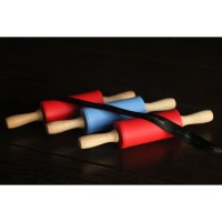 rolling pin silicon handle kayu 22.5cm