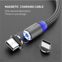 kabel charger magnet fast charging casan android iphone micro usb cabl