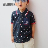Welborn Kids Polo Shirt Sailor Navy