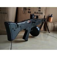 Mainan M159 Pistol tembakan Rambo M60VN AEG airsoft Senapan Sniper
