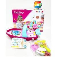 Mainan anak fishing game dan kitchen ship dapur 2 in 1 Produk terlaris