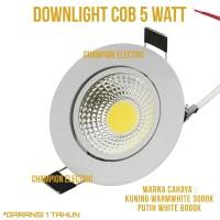 LAMPU LED DOWNLIGHT SPOT SPOTLIGHT FOKUS COB 5W 5WATT 5 W BERGARANSI