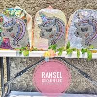 Ransel anak unicorn sequin LED - grosir