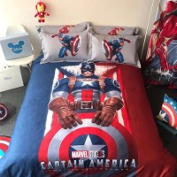GB - Bedcover Marvel Captain America Katun Jepang Panel (100% katun)