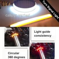 lampu sein led flexible shock motor 2 warna