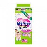 MERRIES PANTS GOOD SKIN M34 POPOK DIAPERS M 34