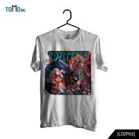 Custom Tshirt Led Zeppelin At The Coliseum - Hitam, XS