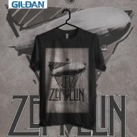 Custom Tshirt Led Zeppelin AH Yeah - Hitam, XS