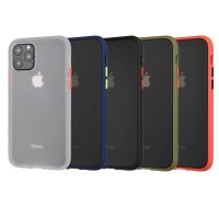 Iphone X/XS/XR/XS MAX Bumper Transparent Silicon Kombinasi Hard Case