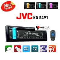 SINGLE DIN JVC KD-R 491 TAPE MOBIL HEAD UNIT KDR - 491 AUDIO CD P