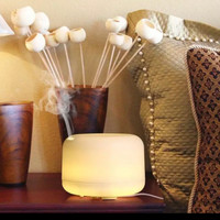 Tabung Diffuser Humidifier Young Aromaterapi Lampu Tidur 7 Led - White