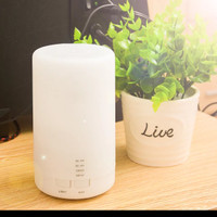 Tabung Diffuser Humidifier Aromaterapi Young Lampu Tidur Led - White