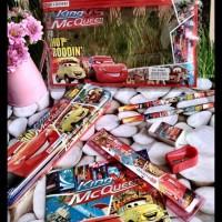 Stationery Set CARS Kantong Souvenir Kado Alat Tulis Goodie Bag Ultah