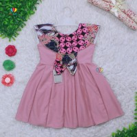 DMS- Dress Batik uk Bayi 0-12 Bulan / Dres Anak Perempuan Pakaian Baju