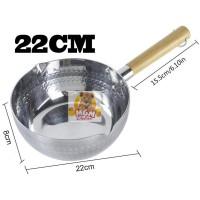 Panci alumunium 22CM Tebal - Panci susu panci kuah alumunium 2613