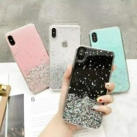 VIVO S1 Bling Glitter Clear Soft Rubber TPU Case Cover