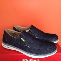 Big Sale Sepatu Kickers Casual Pria Slip On - Navy, 40 Terbaik
