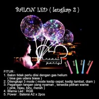 Balon PVC Lampu / Balon LED Stick / Balon LED Tumblr / Balon LED