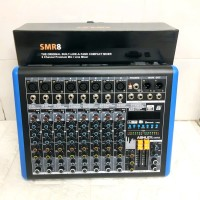 Mixer Ashley 8 Channel Smr8 usb bluetooth effect vocal 320 dsp reverb