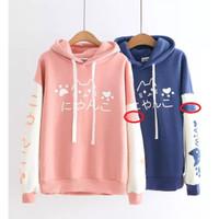 DaveFashion - Sweater Wanita Hodie Kantong Niku Cat Printing AK541