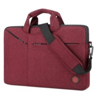 Tas Laptop Selempang BRINCH Slim Messenger Bag 15.6 inch - Red