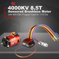 Skyrc Combo 4000KV 8.5T 2P Motor Brushless Esc 60A Sensored prog card