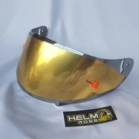 Kaca Flat Visor INK CL MAX Iridium Silver Gold Blue Top dan Tear Off