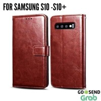 Case Samsung S10 S10 Plus softcase hp leather FLIP COVER WALLET