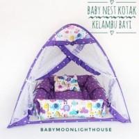 Baby Nest kotak Kelambu - Baby animal ungu