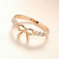 cincin wanita model pita warna gold dan silver import all size