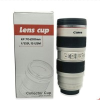 Lens Mug Cup Gelas Termos Kamera Canon EF 70-200 mm Botol Minum Kamera