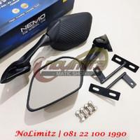 Spion NEMO Fairing R25 Carbon Breket Tangkai Pendek Yamaha NMAX XMAX