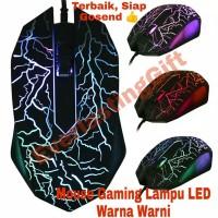 Mouse Gaming Kabel USB 2400DPI Dengan Lampu LED Warna Warni