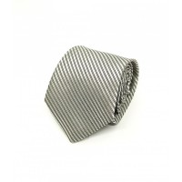 Houseofcuff Dasi Neck Tie Motif SILVER LISTED NECK TIE - Perak - 2 inch