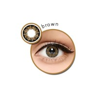 Zuhra Brown normal minus s/d -3.00 coklat 14.5 mm - Softlens
