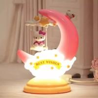 Lampu Tidur Bulan Sabit Doraemon Moon Lamp - Merah Muda