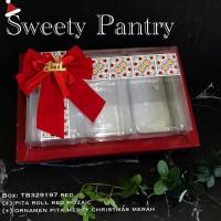 Dus/box toples / packaging/kemasan kue kering imlek CNY mika merah