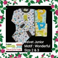 DRS Velvet Junior Size 2 dan 3 Piyama Besar