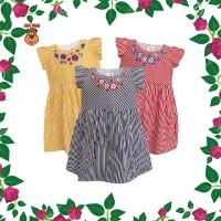 DRS MacBee Kids Baju Anak Dress Amami Flowers Stripy