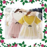 DRS babyfit WC3 BRITNEY dress baju anak perempuan renda import